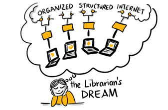 A librarian dreamig of an organised, structured internet