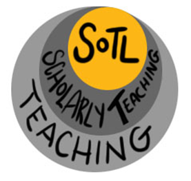 a image showing that SoTL is the heart of teaching - first there is teaching, then there is scholarly teaching and then SoTL is the core of all of this.